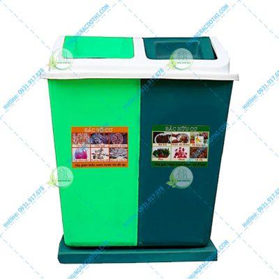 giá thùng rác 69 lít 2 ngăn
