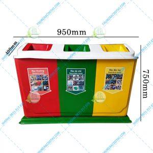 kích thước thùng rác composite 60 lít