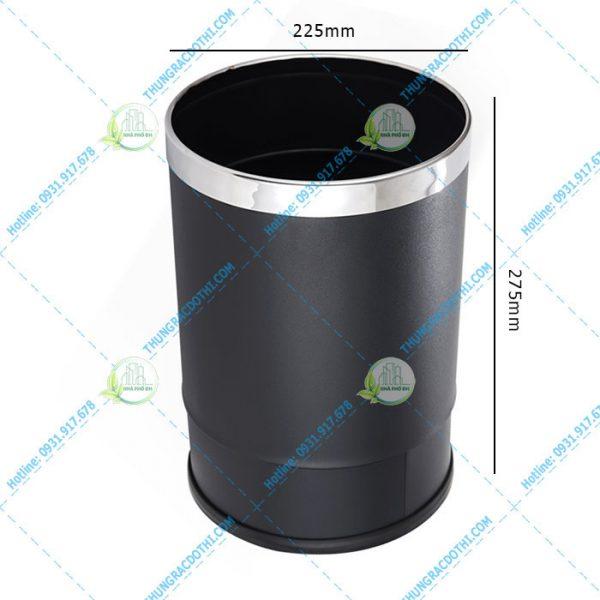 kích thước thùng rác inox 2 ngăn