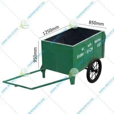 kích thước xe chở rác cải tiến