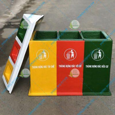 thùng đựng rác 3 màu