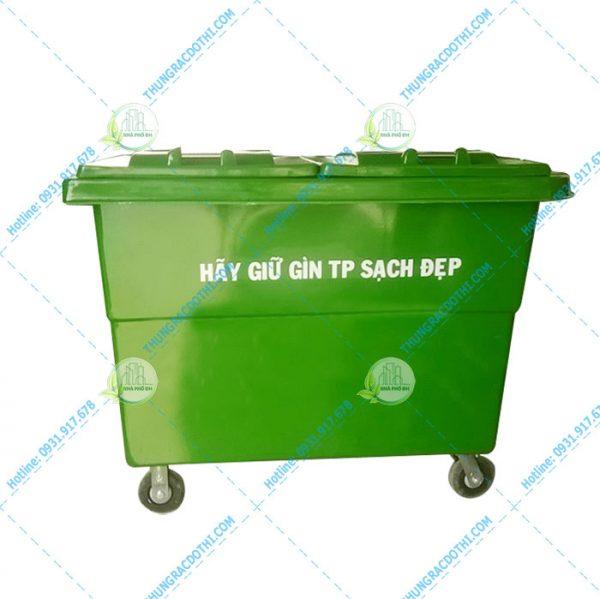 thùng rác 1000 lít composite