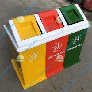 thùng rác 3 ngăn loại 60 lít