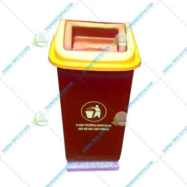 thùng rác composite 90l nắp lật