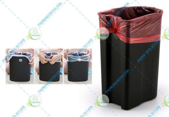 thùng rác hình bầu dục