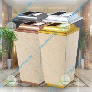 thùng rác khách sạn đá cẩm thạch