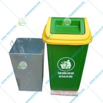 thùng rác composite 90l