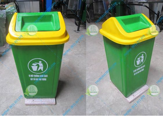 thùng rác nhựa đế đá