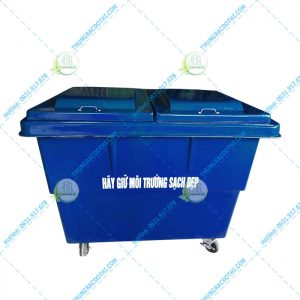 xe rác 1000 lít composite