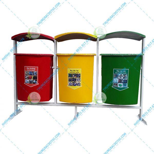 thùng rác 3 màu 8 lít