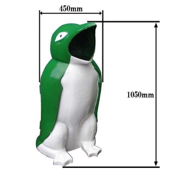 kích thước thùng rác chim cánh cụt