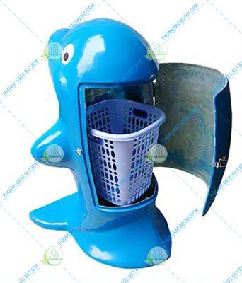 thùng đựng rác cá heo