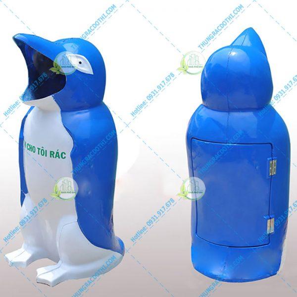 thùng đựng rác hình chim cánh cụt loại nhỏ
