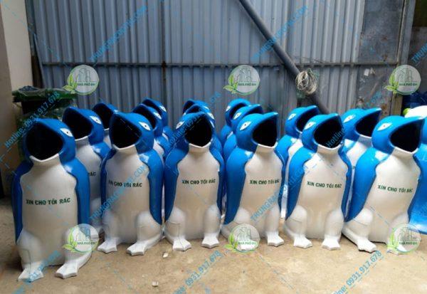 thùng rác chim cánh cụt 40 lít