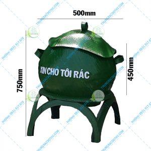 kích thước thùng rac cao su