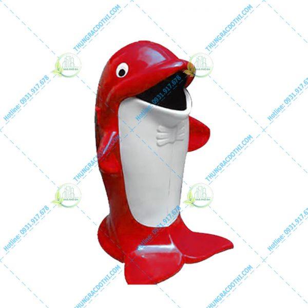 thùng rác composite cá heo