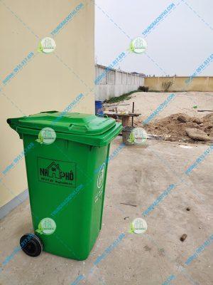 thùng đựng rác bằng nhựa 240 lít