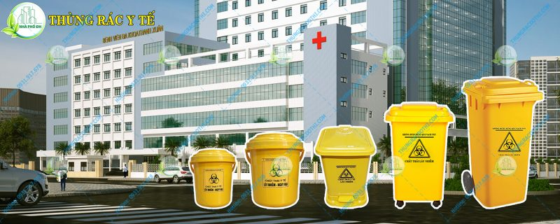 thùng rác y tế đạt chuẩn