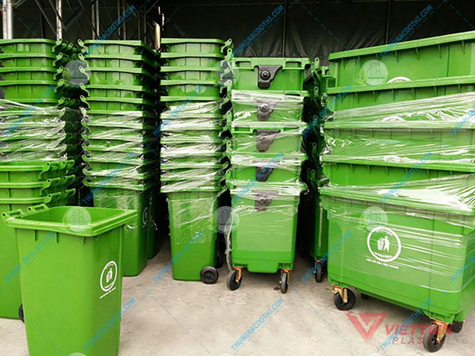 thùng đựng rác nhựa HDPE